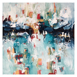 Original Modern Abstract Painting by Omar Obaid, 102 x 102 cm
