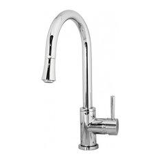 Polished Chrome Single Hole Kitchen Faucet