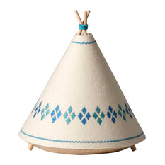 Tipi Table Lamp, Blue Diamonds