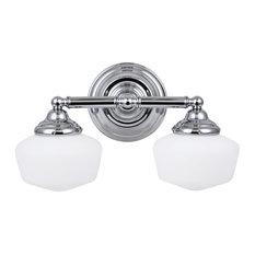 Bathroom Vanity Glass Shades farmhouse bathroom vanity lights with a glass shade | houzz
