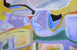 'Luberón' Original Abstract Landscape by Kerry Steelef Fne Art