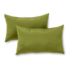 Rectangle Outdoor Accent Pillows, Set of 2, Summerside Green