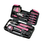 Apollo Tools 39 Piece General Tool Set, Pink