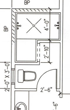 Dimensions For Doorless Walk In Shower Stall