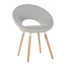 Roslyn Beechwood Dining Chair With Light Grey Fabric Seat