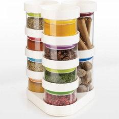 - Joseph Joseph SpiceStore Rotating Spice Rack - Spice Jars And Spice Racks