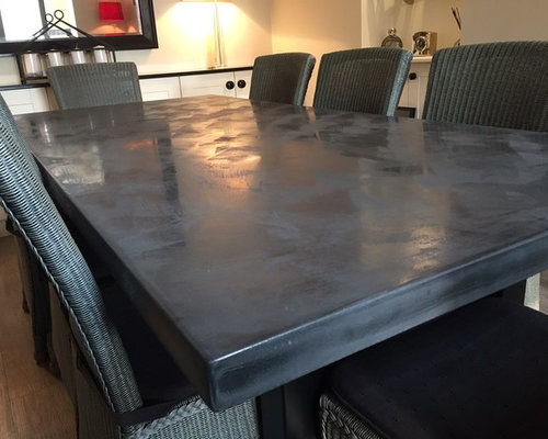 2.2 Metre Dark Charcoal Polished Concrete Table - Products