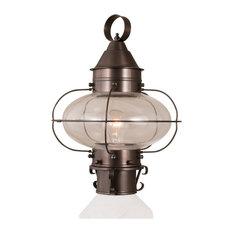 Cottage Onion Medium Post Light, Bronze