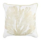 "Pillow L303 Ivory and Gold Coral, 18""x18"""