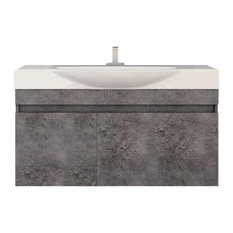 "DP Wall Bath Vanity Cabinet Set 41.3"" Single Sink With Laminated Granite Finish,"