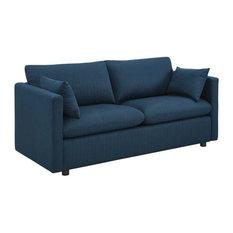 Melrose Upholstered Fabric Sofa/Azure