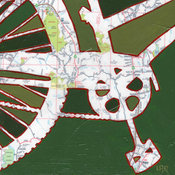 Bike Napa Valley Print by Off the Map Art