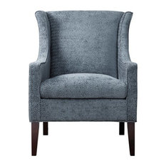 Bay   Adaline Wingback Chair, Blue   Armchairs And Accent Chairs
