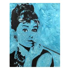 Audrey Hepburn Breakfast at Tiffany's Holly Golightly Tiffany Blue Art Painting