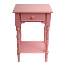 Decor Therapy   Elegant Wooden Accent Table, Pink   Side Tables And End  Tables