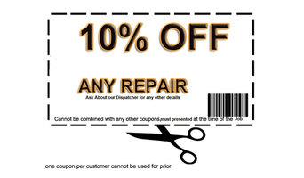 10% OFF ANY GARAGE DOOR REPAIR