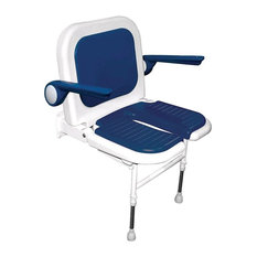 Deluxe Standard U-Shaped Seat With Back and Arms, Blue