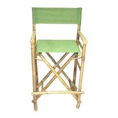 Chair Bamboo Director High Chair, Set of 2, Green