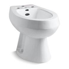 Kohler San Tropez Vertical Spray Bidet with 4 Faucet Holes, White