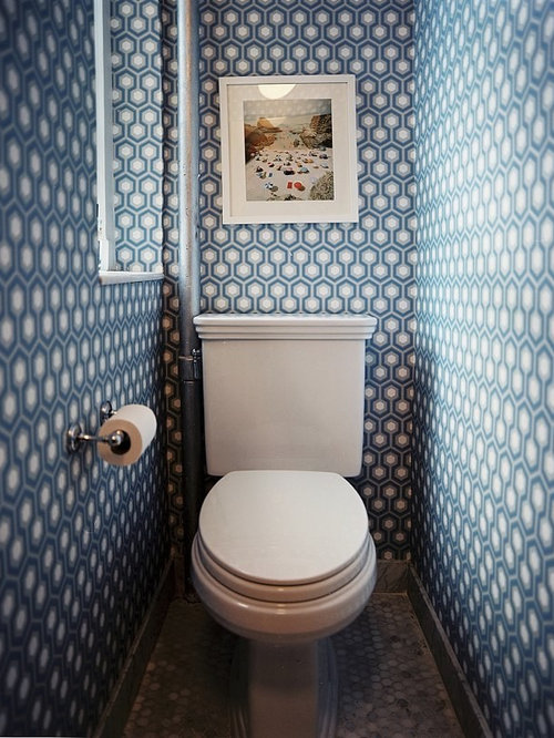 Tiny powder room houzz for Smallest powder room size