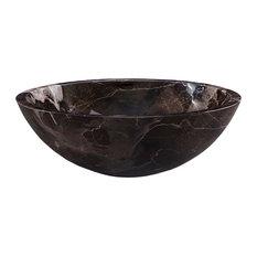 Round Stone Vessel - Coffee Marble