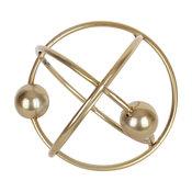 """6x5.7x5.5"""" Gold Metal Rings Balls Large Table Decor, Shelf Decor Desk Decor"""