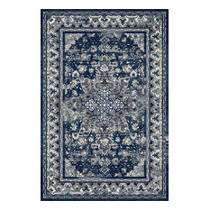 Traditional Blue & Gray Rug (7ft. 10in. X 9ft. 10in.) Artifact ART03A