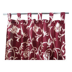 "Mogul Interior - Sari Curtains Designer Printed Tab Top Saree Drapes Window Panels- Pair, 48""x108 - Curtains"