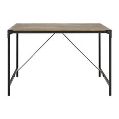 48-inch Angle Iron Wood Dining Table Driftwood