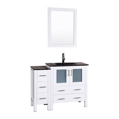 Bosconi Single Vanity, White, 42""