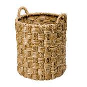 """Round Braided Sea Grass Basket, Diameter 20"""" x 27"""""""