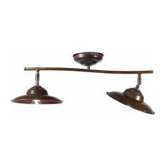 Evita 2-Lamp Bar Ceiling Light