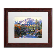 "David Lloyd Glover 'Painter's Lake' Framed Art, Wood Frame, 11""x14"", White Matte"