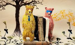 Illustrated Bear Cushion