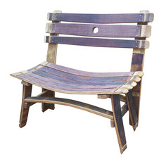 wine barrel garden bench outdoor benches alpine wine design outdoor