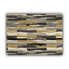 Sublime Black Indoor/Outdoor Placemats, Finished Edge, Set of 2