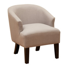 Gdfstudio Luciana Linen Accent Chair Gray Armchairs And Chairs