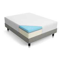 "Lucid 12"" Gel Memory Foam Mattress, Triple-Layer, Twin"