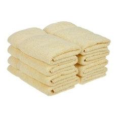 100% Cotton 8-Piece Hand Towel Set, Canary