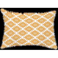 "Jodhpur Kilim 14""x20"" Decorative Abstract Outdoor Throw Pillow, Gold"