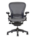 Herman miller - Herman Miller Aeron Chair Size B Fully Loaded Black Mesh - 10 Year Warranty On Cylinder and Mechanism Open Box and 30 day money back