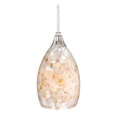 Mosaic pendant lights houzz 1st avenue lorenzo mini pendant mosaic shell glass pendant lighting aloadofball Image collections