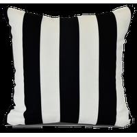 Stripe, Stripe Print Indoor/Outdoor Pillow, Black,16 x 16-inch