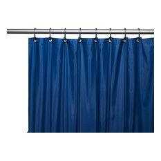 Hotel Collection, 8 Gauge Vinyl Shower Curtain Liner w/ Metal Grommets in Navy