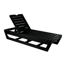 Laguna Chaise Lounge, Black