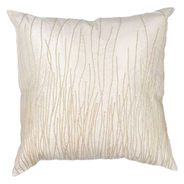 L188 Ivory Simplicity 100% Cotton Pillow, 18