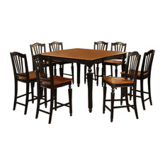 5-Piece Counter Height Dining Set Square Table And 4 Stools