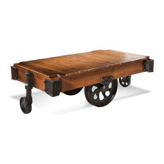 factory cart coffee tables | houzz