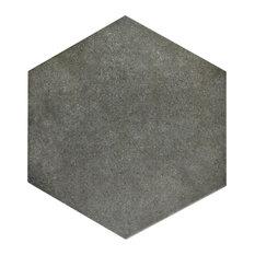 "8.63""x9.88"" Vendimia Hex Porcelain Floor/Wall Tiles, Set of 25, Marengo"
