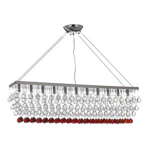 Modern Crystal Raindrop 11-Light Chandelier